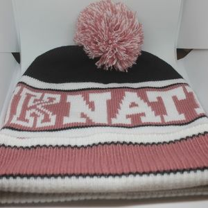 Victoria's Secret Pink Nation Beanie Pom hat OSFA